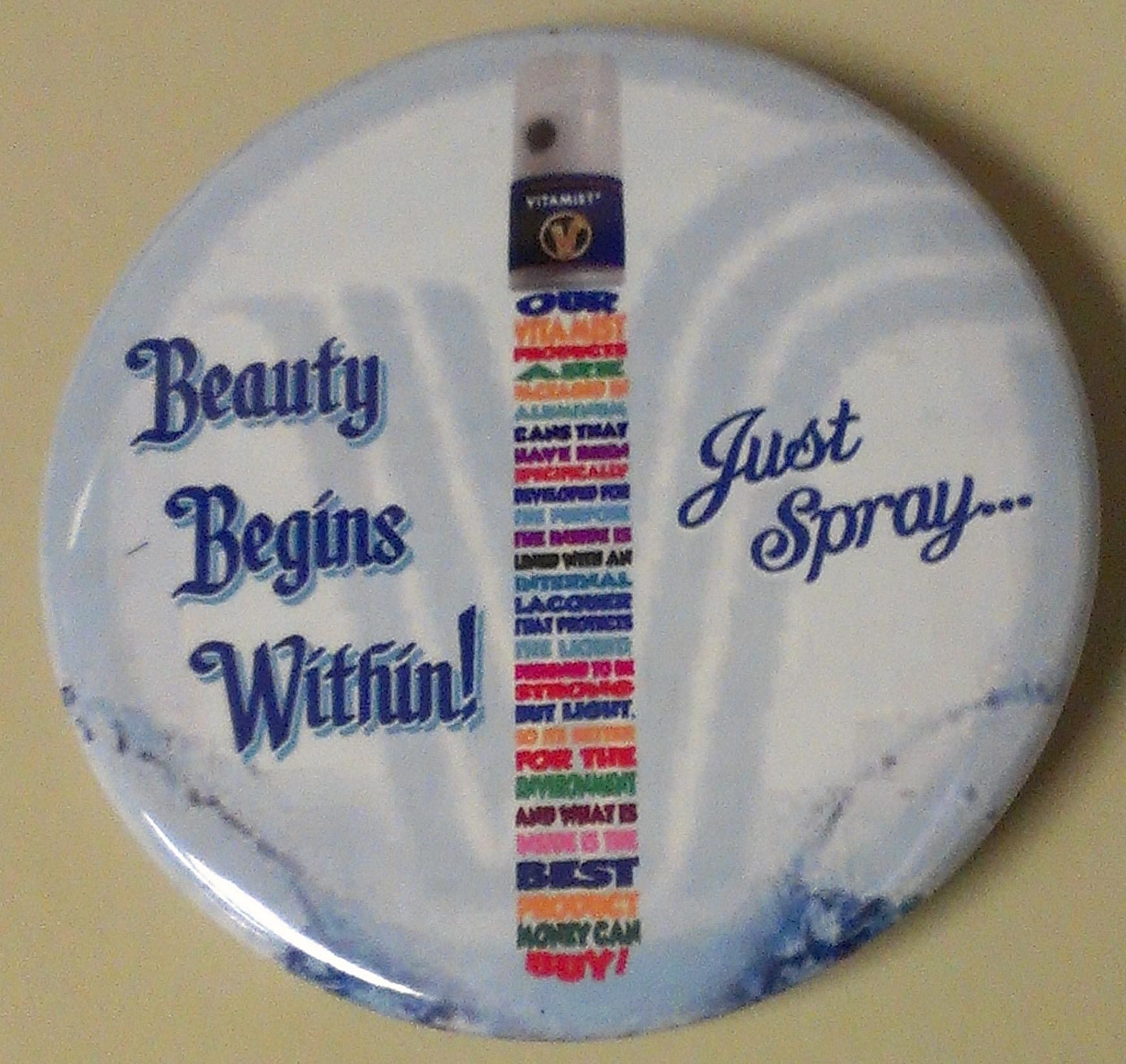 Beauty Begins Within Button